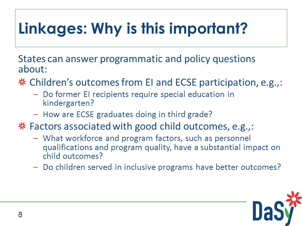8 Linkages: Why is this important.