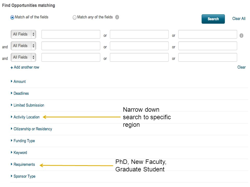 Narrow down search to specific region PhD, New Faculty, Graduate Student