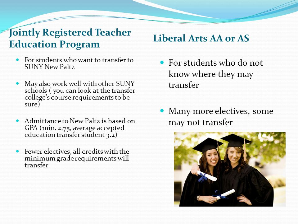 Other 0ptions in Education (not designed as transfer programs) AAS in Early Childhood Teaching Assistance Certificate Preschool teacher Child care worker Own your childcare center Teaching assistant in the public schools