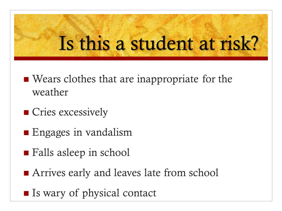 Is this a student at risk.