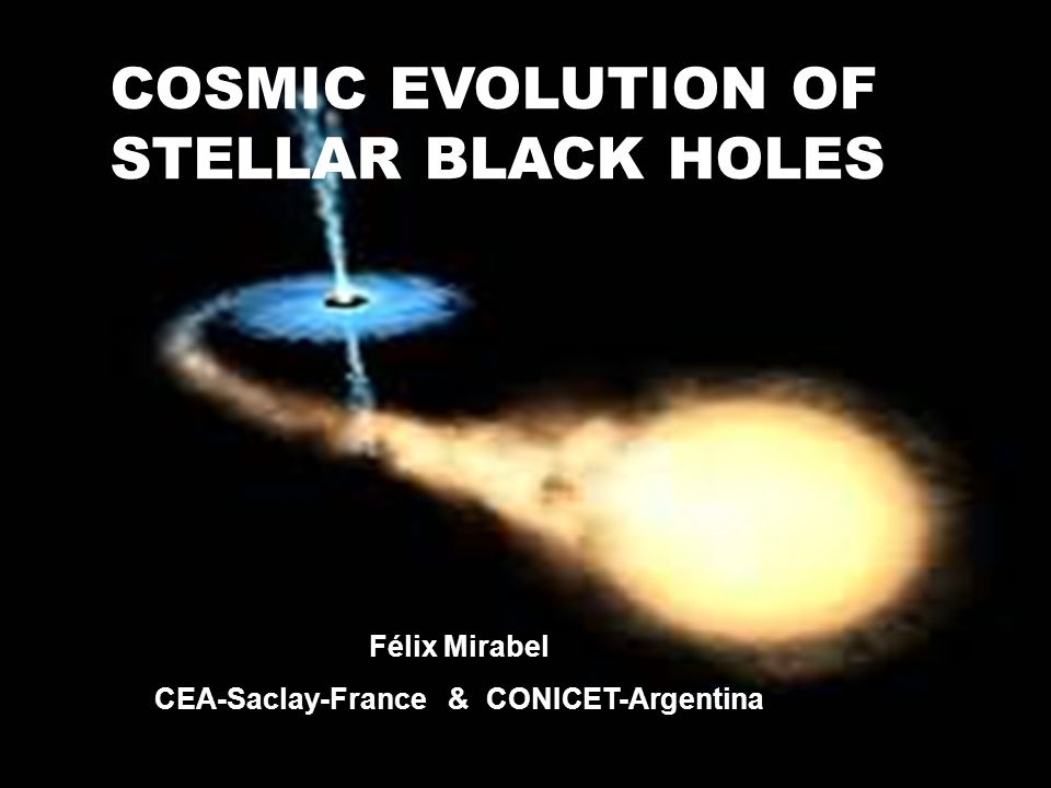 COSMIC EVOLUTION OF STELLAR BLACK HOLES Félix Mirabel CEA-Saclay-France & CONICET-Argentina