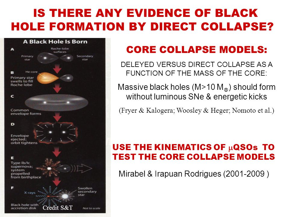 IS THERE ANY EVIDENCE OF BLACK HOLE FORMATION BY DIRECT COLLAPSE.
