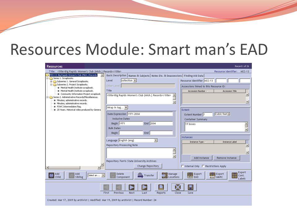 Resources Module: Smart man's EAD