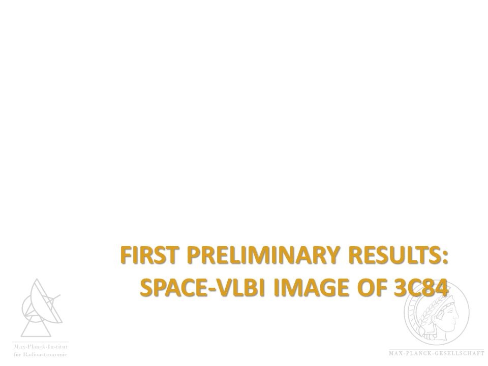 FIRST PRELIMINARY RESULTS: SPACE-VLBI IMAGE OF 3C84