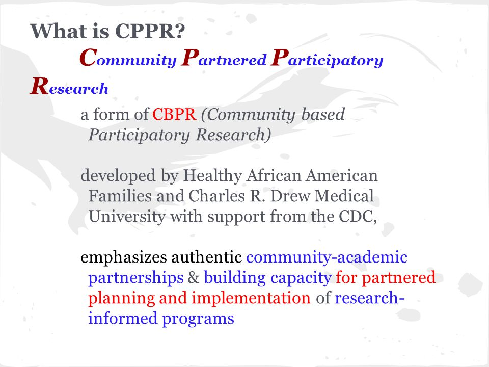 What is CPPR.