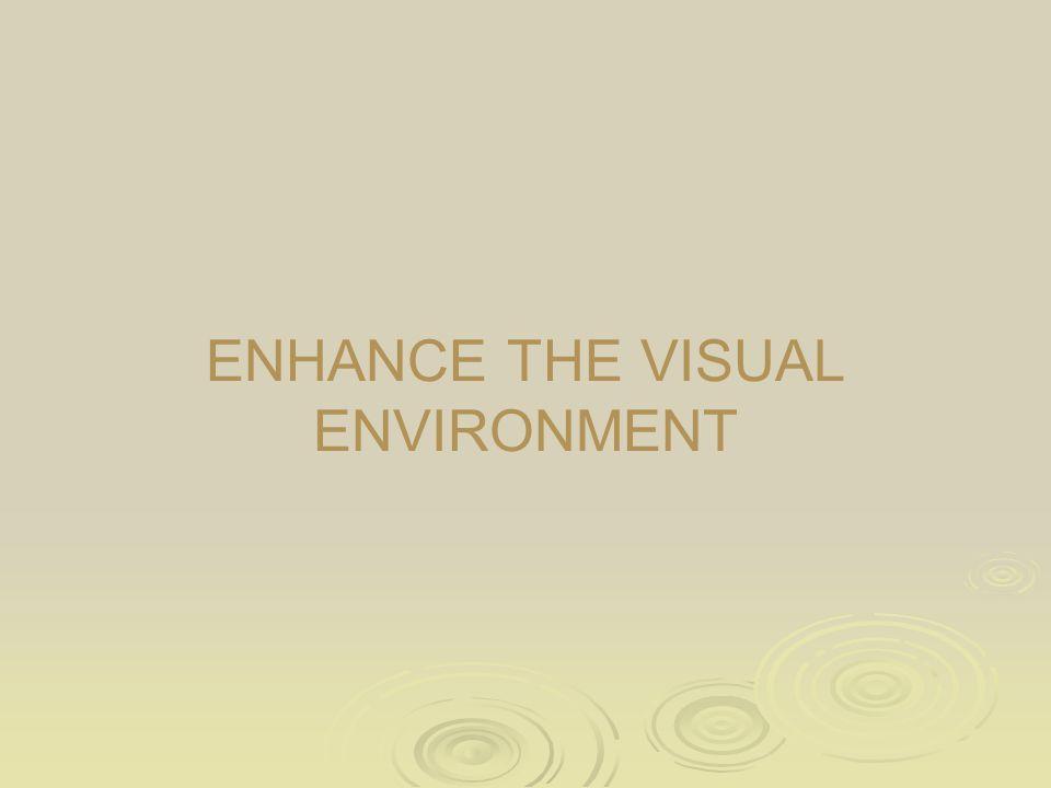 ENHANCE THE VISUAL ENVIRONMENT