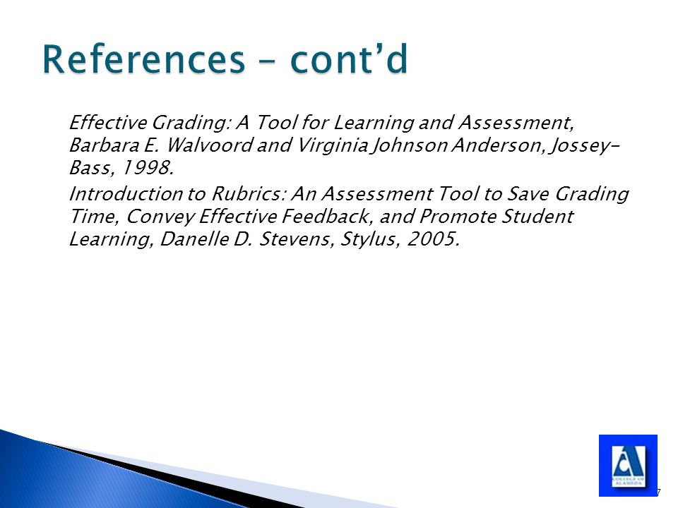 Effective Grading: A Tool for Learning and Assessment, Barbara E.
