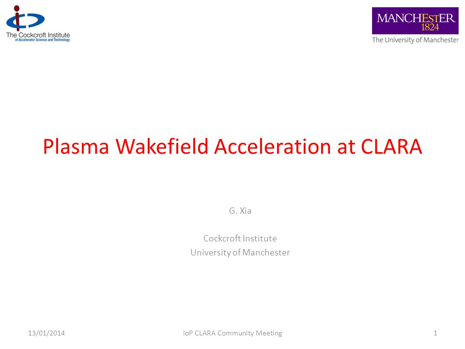 Plasma Wakefield Acceleration at CLARA G.