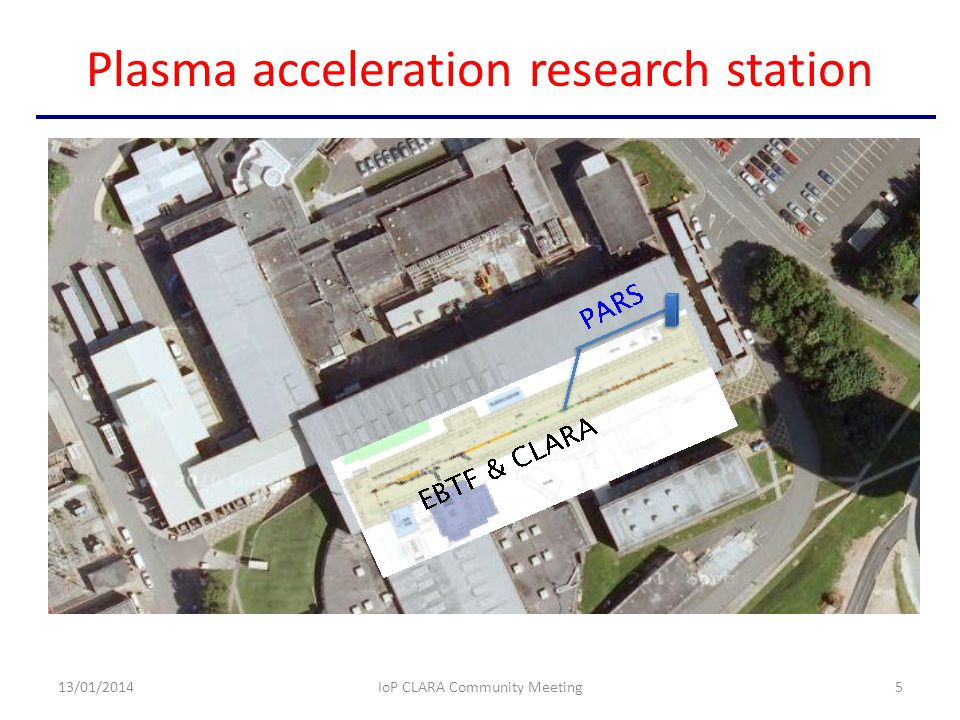 Plasma acceleration research station 13/01/2014IoP CLARA Community Meeting5