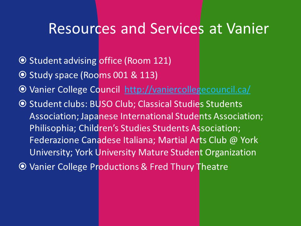 Registrarial and Financial Services  Services and information for students e.g.