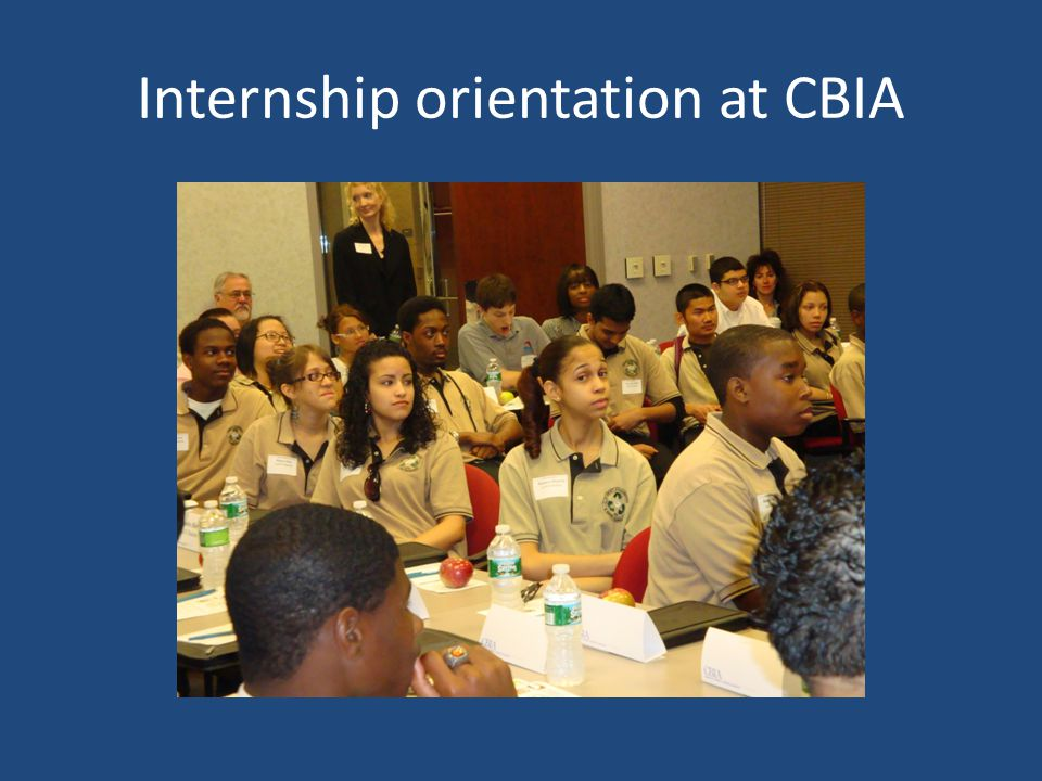 Internship orientation at CBIA