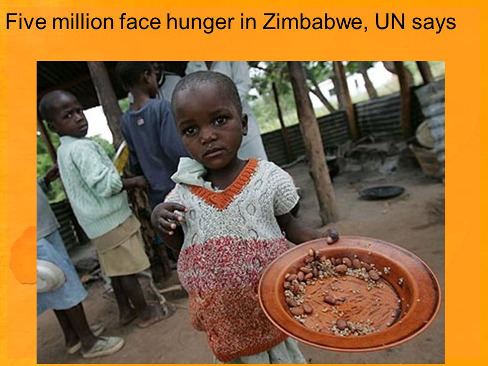 Five million face hunger in Zimbabwe, UN says