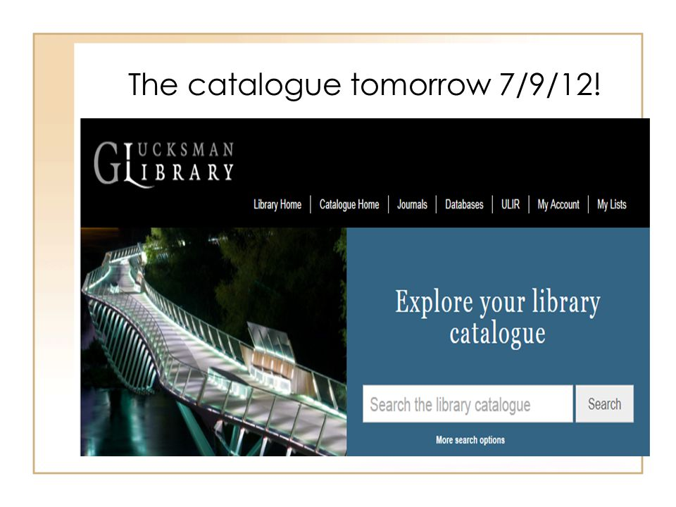 The catalogue tomorrow 7/9/12!