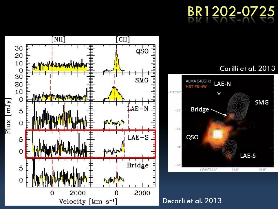 Decarli et al. 2013 Carilli et al. 2013 Bridge QSO SMG LAE-S LAE-N