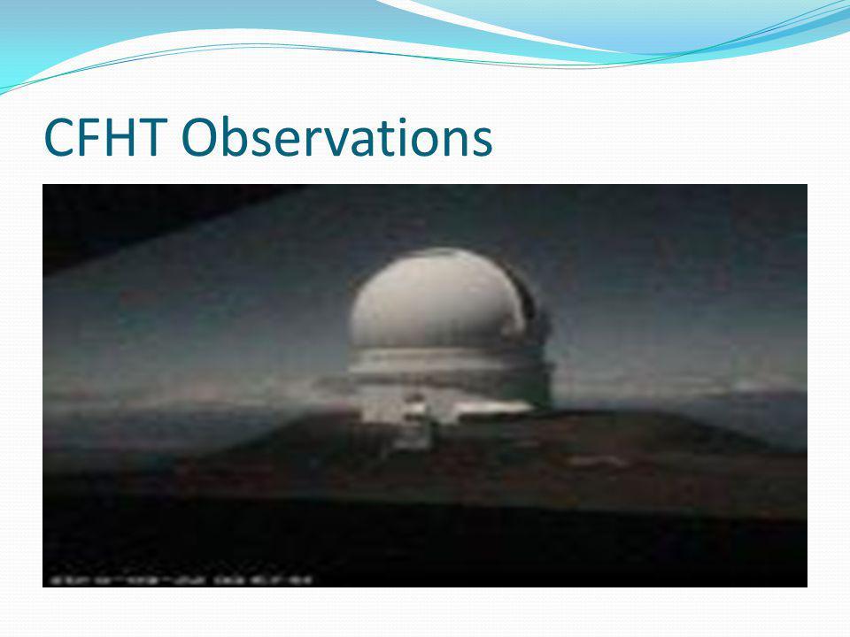 CFHT Observations