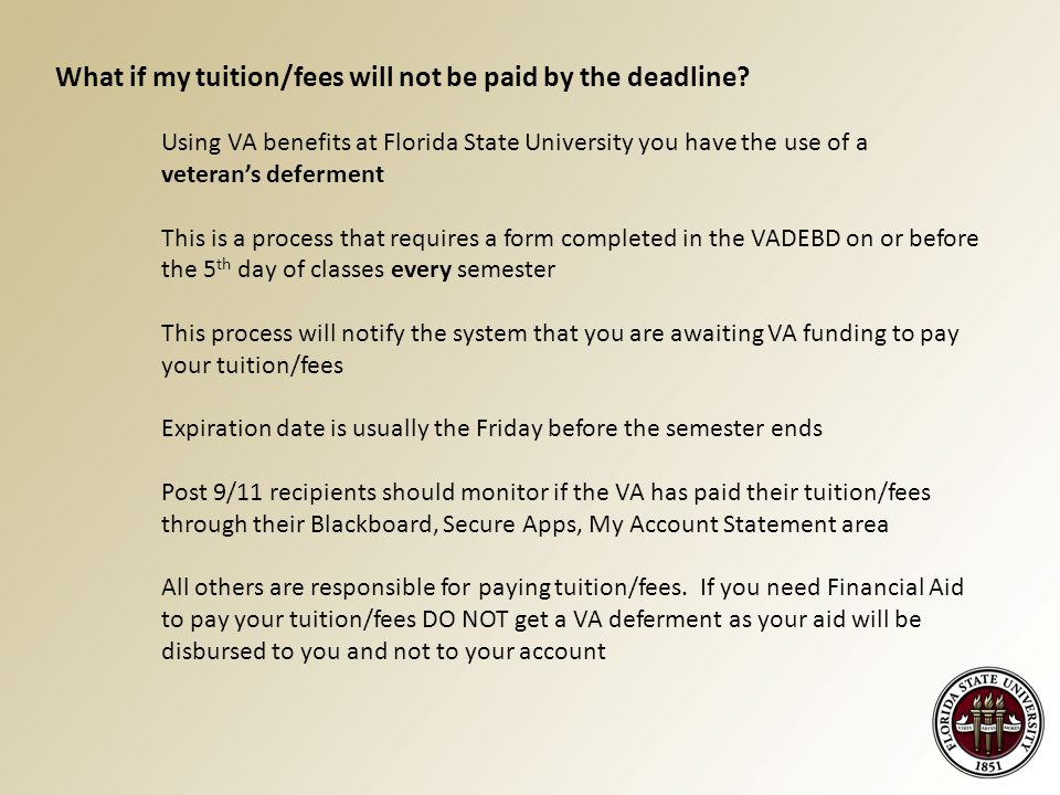 What if my tuition/fees will not be paid by the deadline.