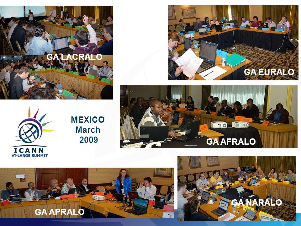 30 GA APRALO GA LACRALO GA EURALO GA NARALO MEXICO March 2009 GA AFRALO