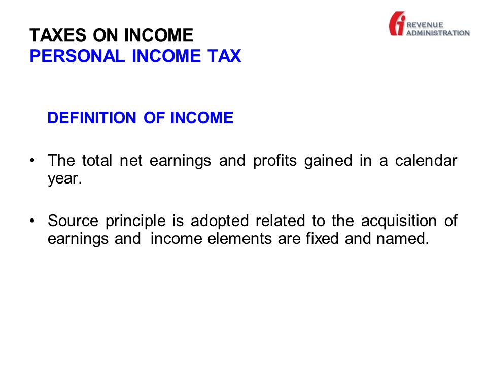 TAXES ON INCOME PERSONAL INCOME TAX SIMPLE PROCEDURE BASIS - For some small businesses with certain threshold criteria, which are assumed as they are not able to calculate their income on real basis - Commercial income is the positive difference between receipts and the expenses in a calender year.