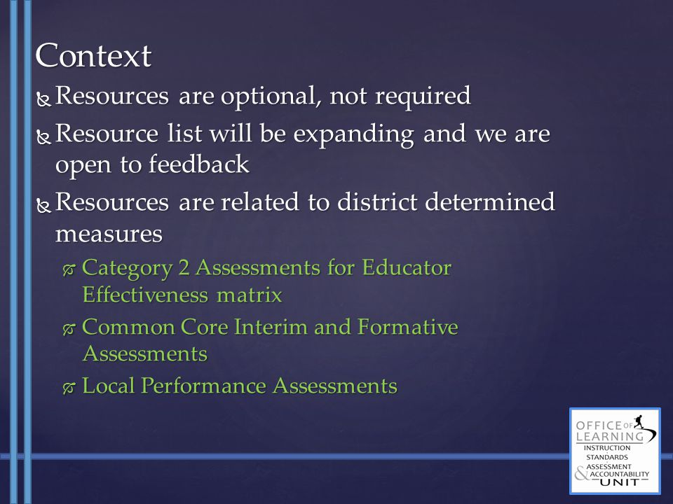 To get a sense of what people are planning, please…  Raise your hand if your districts is mostly undecided about they will do for these assessments.