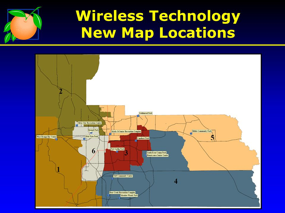 Wireless Technology New Map Locations