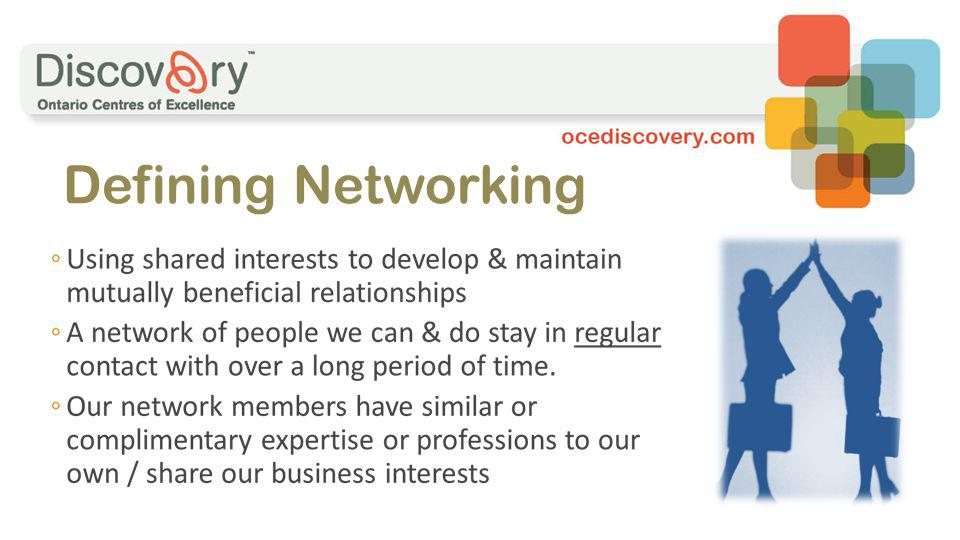 Defining Networking