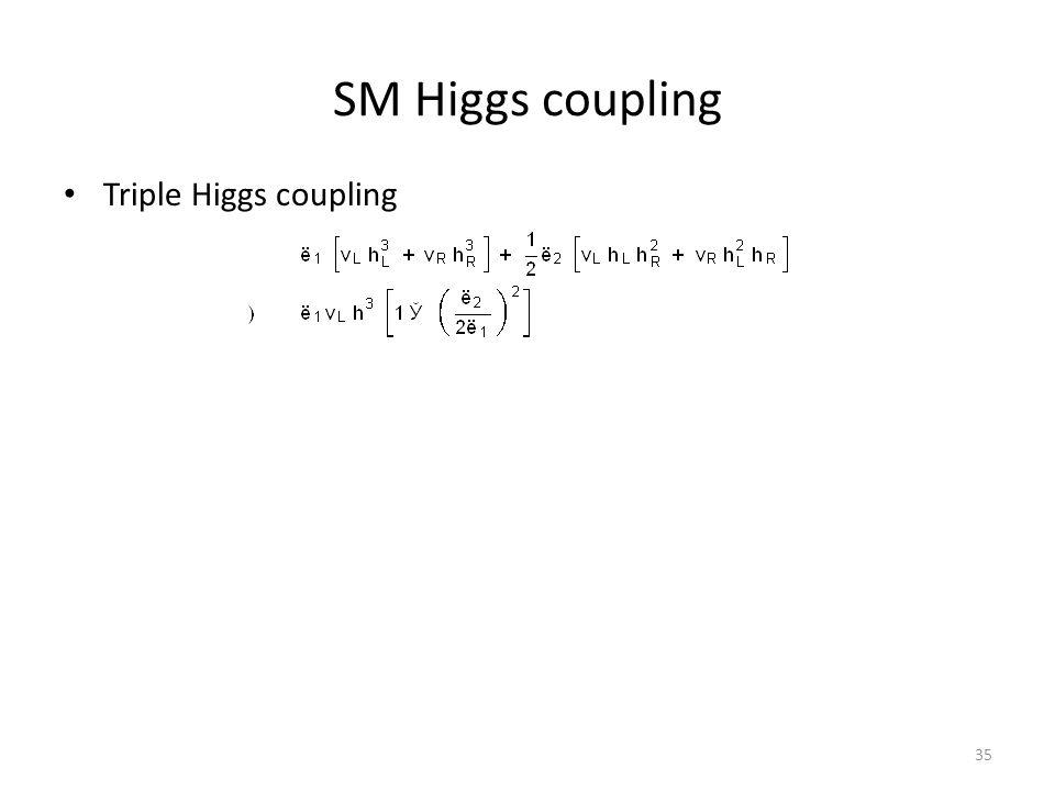 SM Higgs coupling Triple Higgs coupling 35