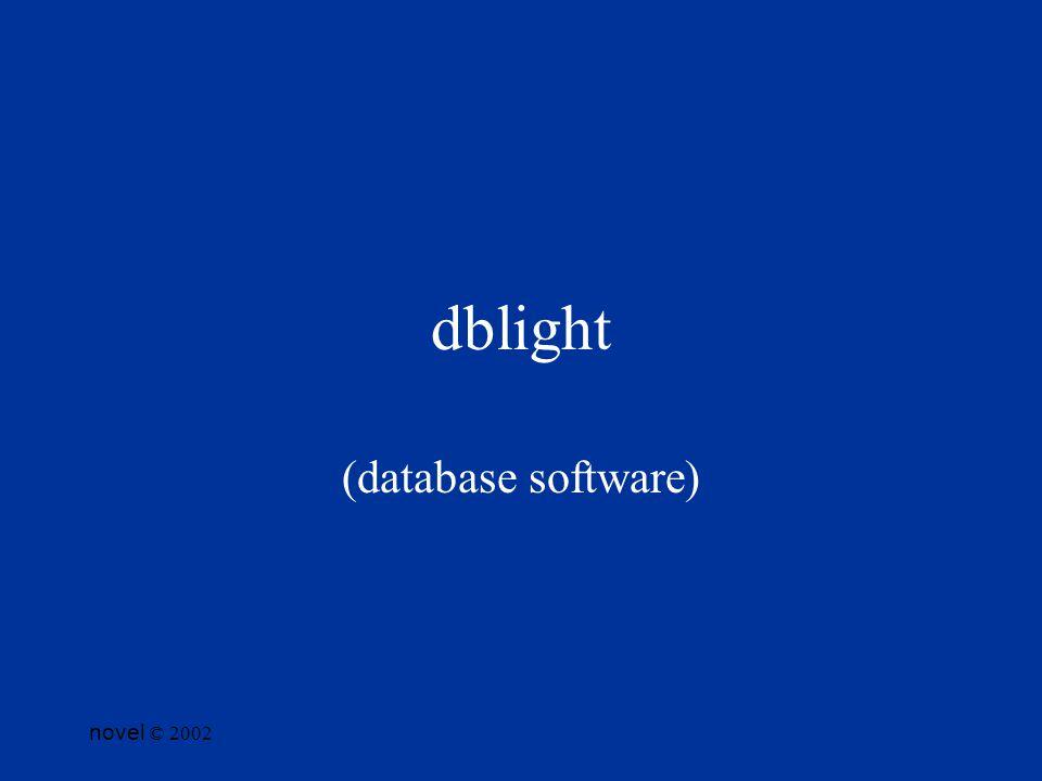 novel © 2002 dblight (database software)