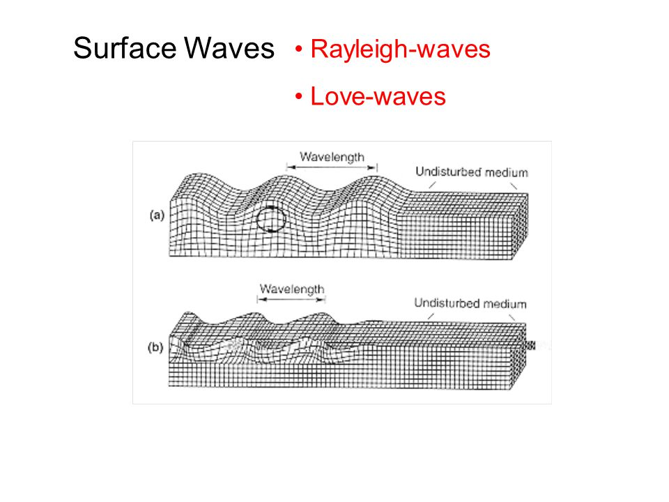 Rayleigh-waves Love-waves Surface Waves