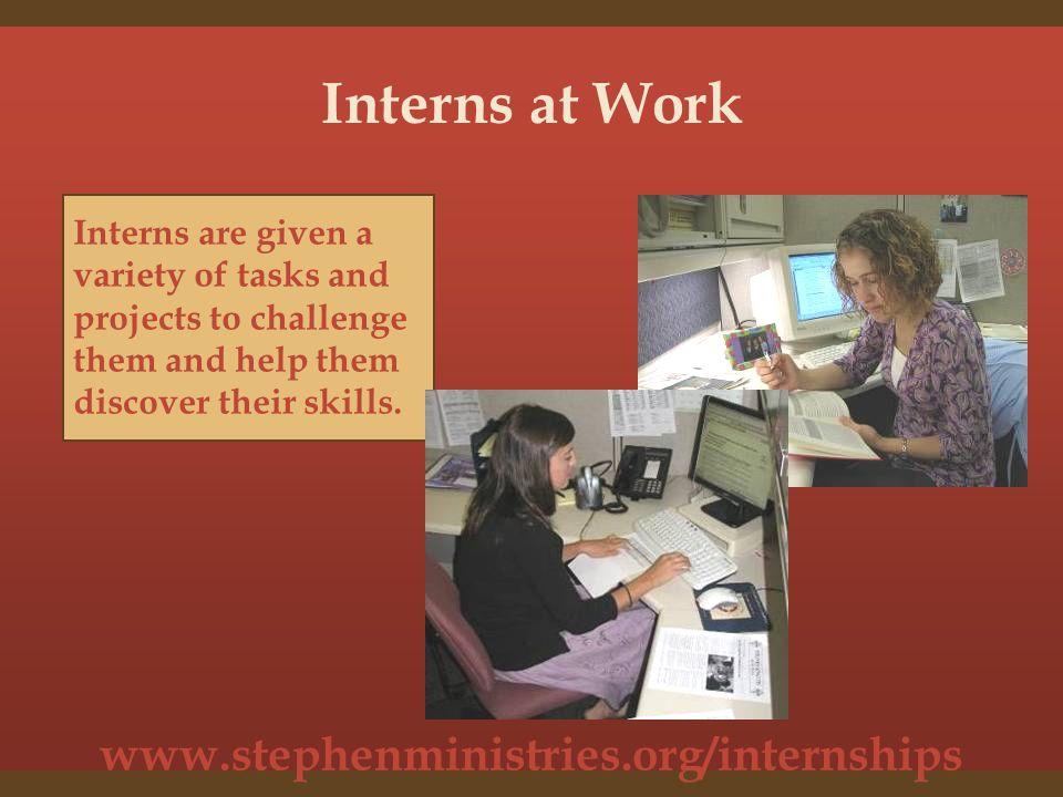 www.stephenministries.org/internships Meet Our Former Interns Stephanie Medhurst Fall 2008
