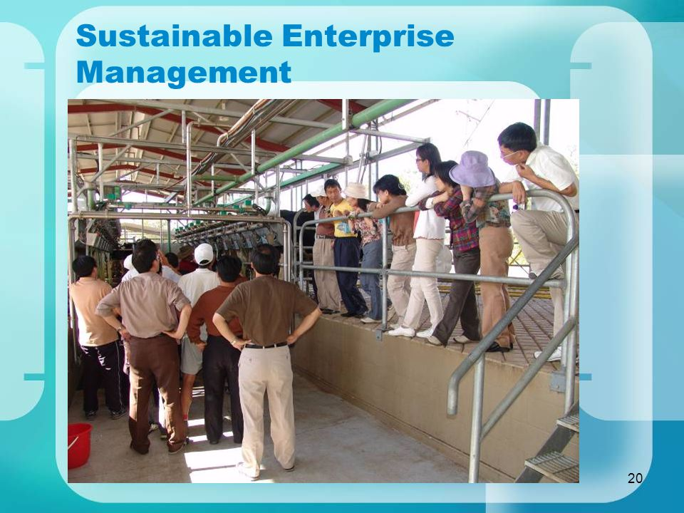 20 Sustainable Enterprise Management