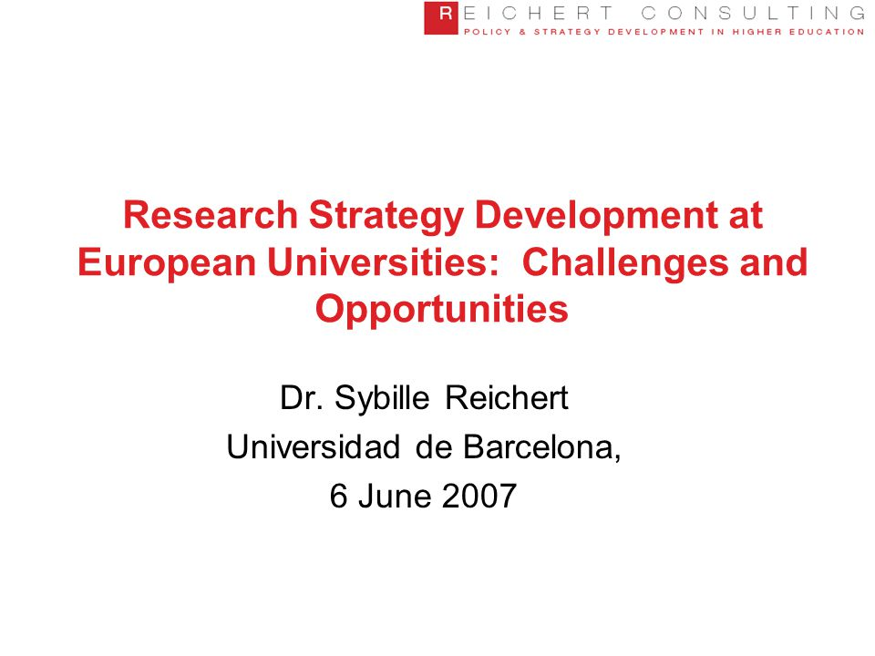 Structure of Presentation  Why worry about research strategies.