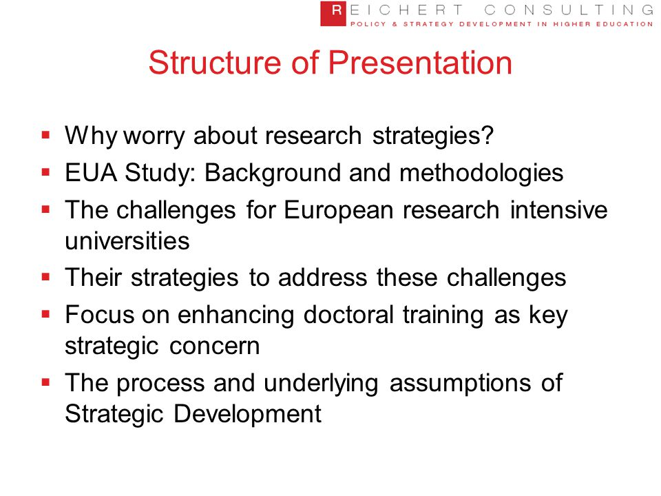 Structure of Presentation  Why worry about research strategies.