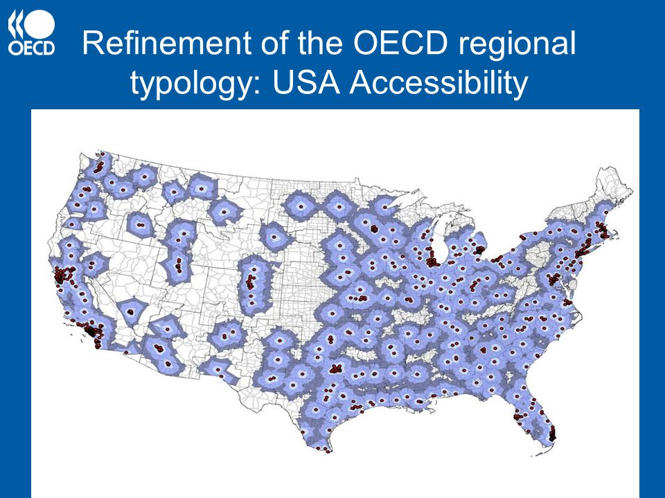 Refinement of the OECD regional typology: USA Accessibility