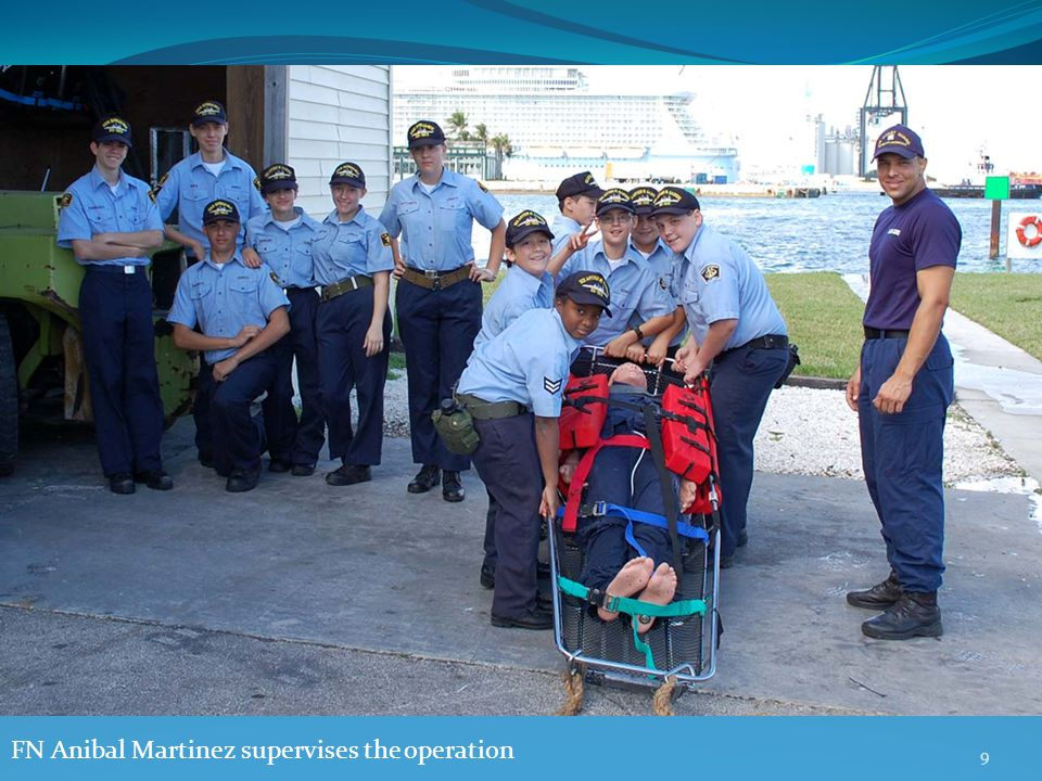9 FN Anibal Martinez supervises the operation