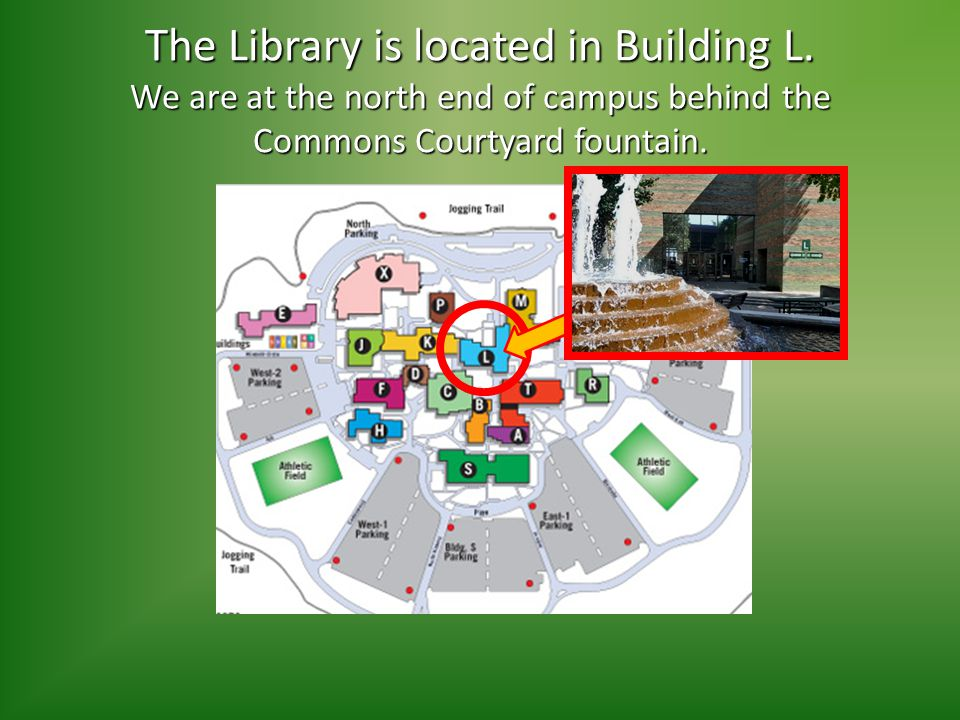 The Library is located in Building L.