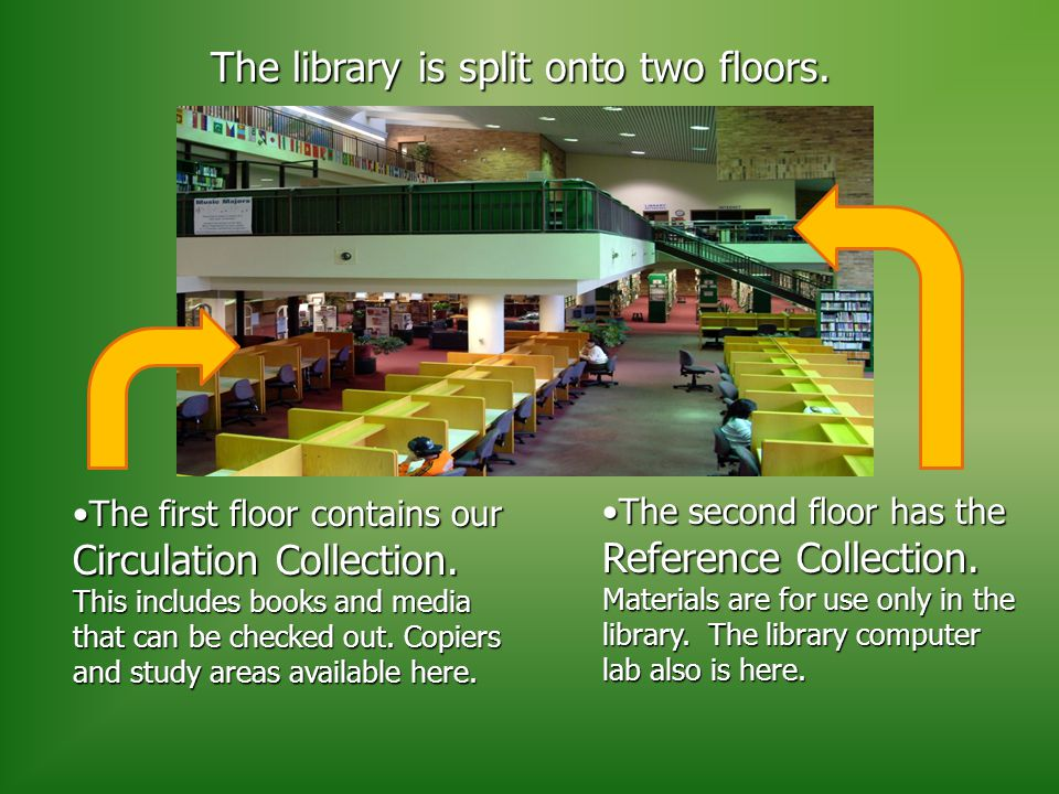 The first floor contains our Circulation Collection.