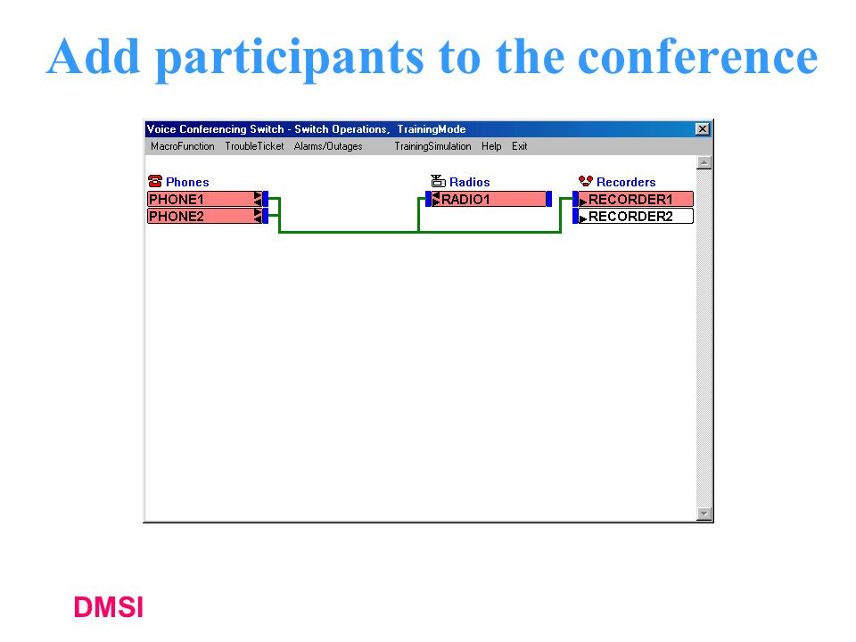 DMSI Add participants to the conference