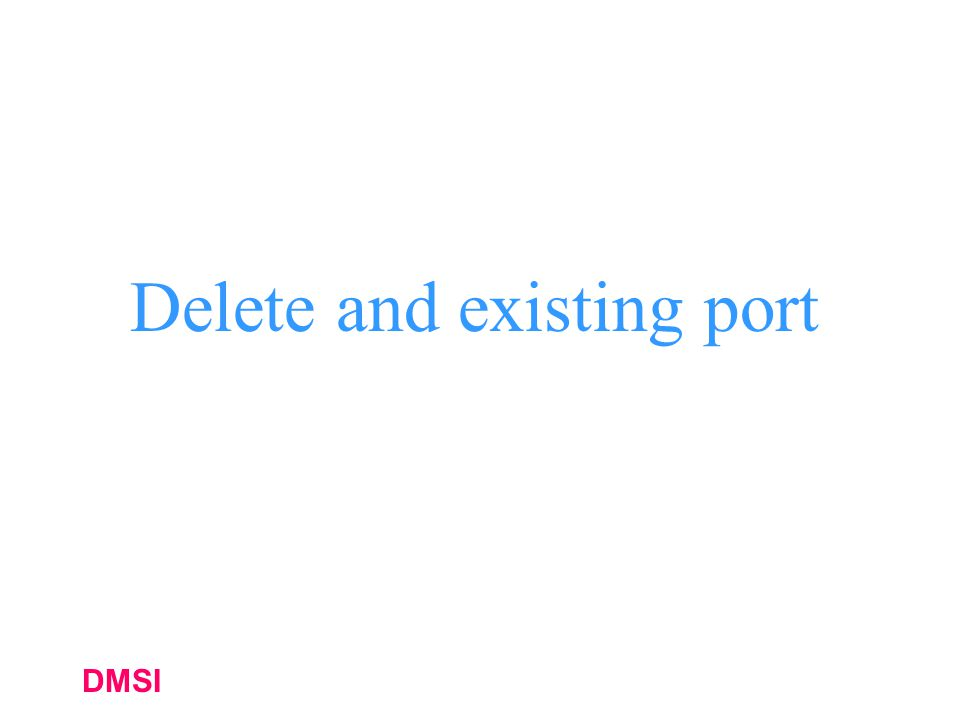 DMSI Delete and existing port