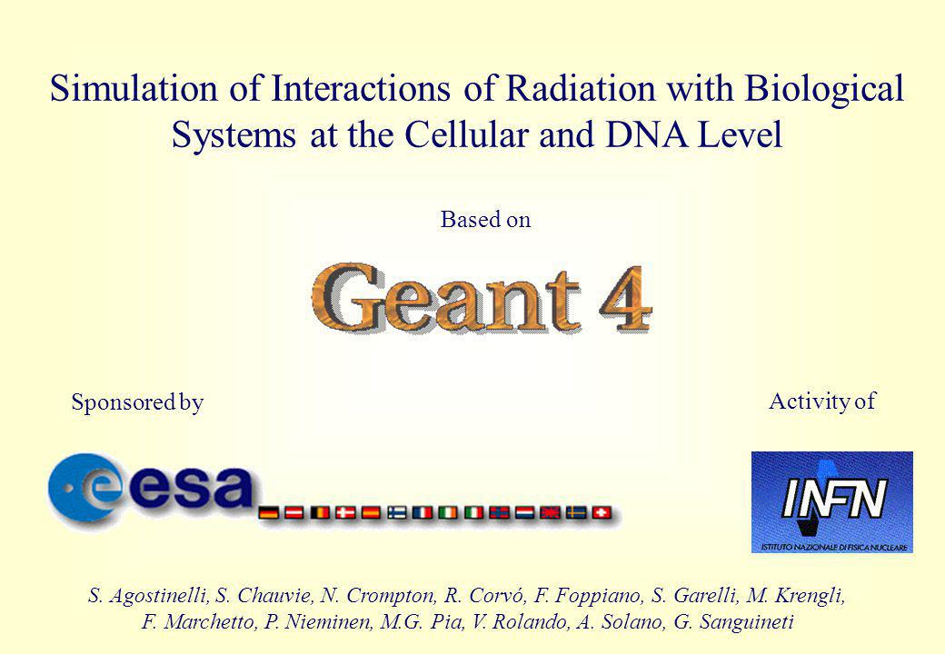Simulation of Interactions of Radiation with Biological Systems at the Cellular and DNA Level Based on Sponsored by Activity of S.