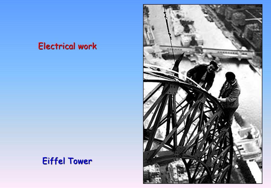 Electrical work Eiffel Tower