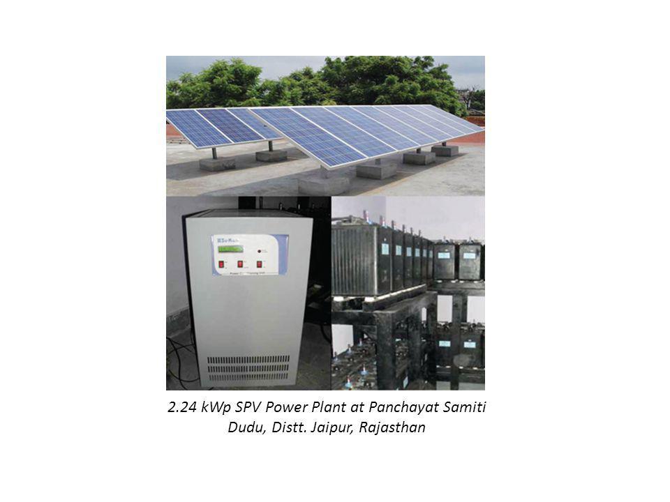 2.24 kWp SPV Power Plant at Panchayat Samiti Dudu, Distt. Jaipur, Rajasthan