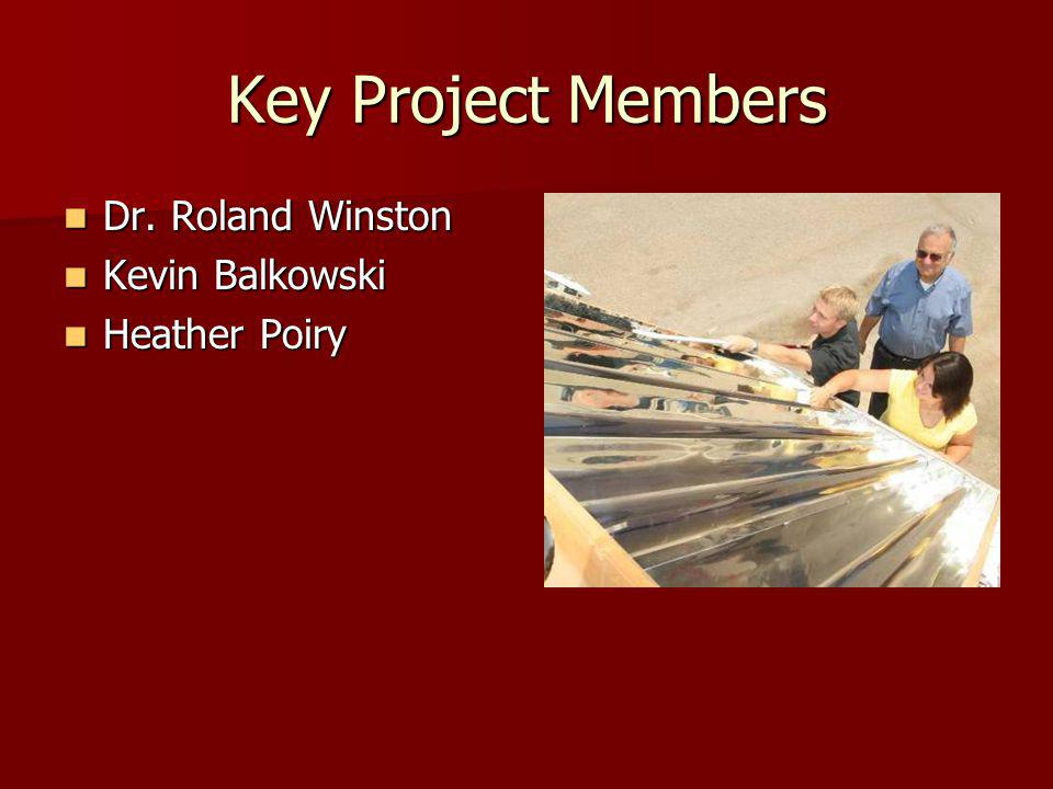 Key Project Members Dr. Roland Winston Dr.