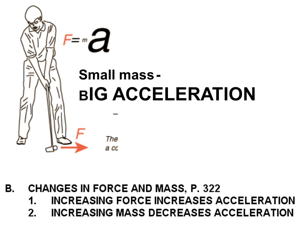 Small mass - B IG ACCELERATION