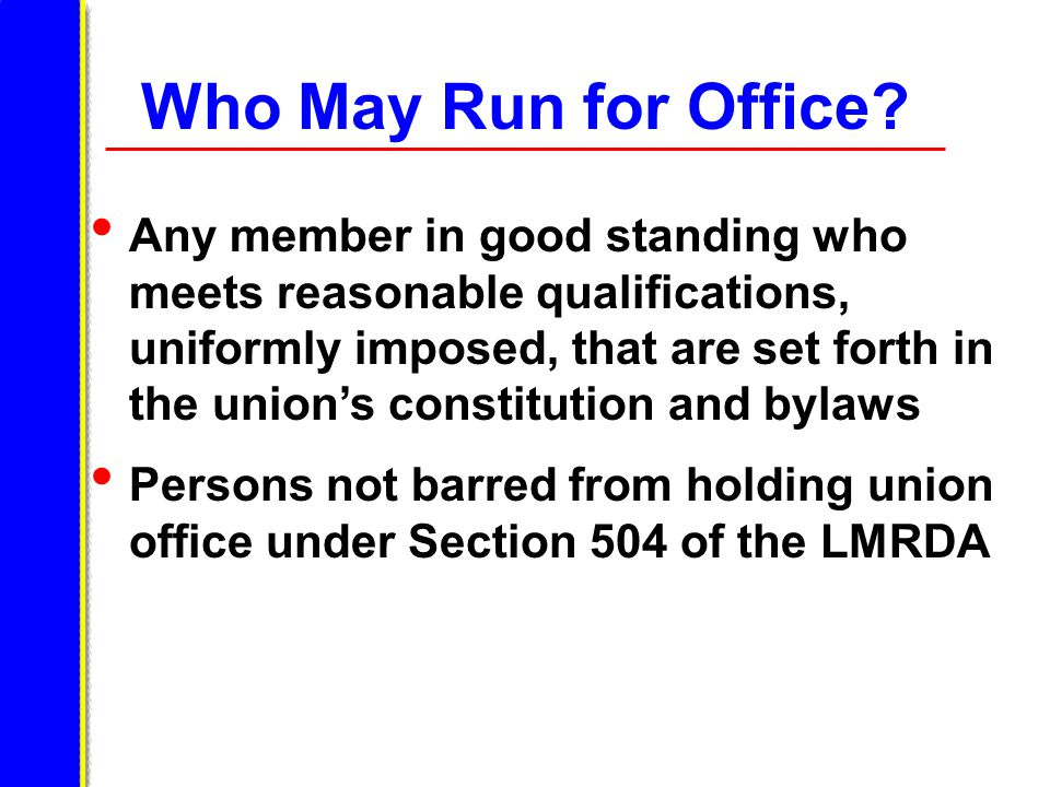 Who May Run for Office.