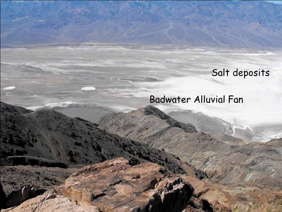 Salt deposits at Badwater
