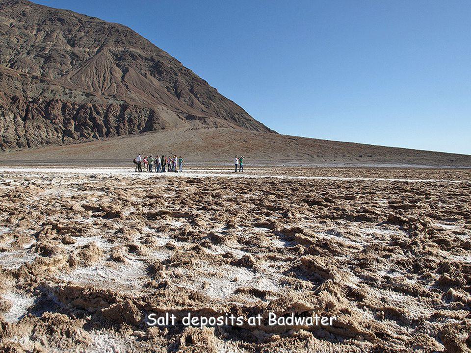 Salt deposits at Badwater