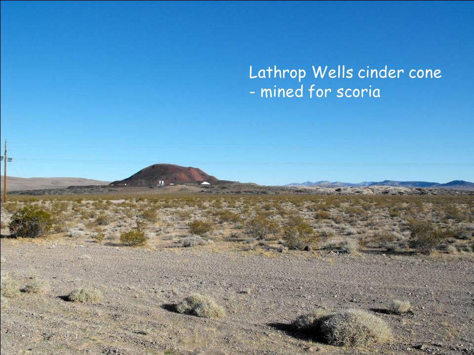 Lathrop Wells cinder cone - mined for scoria