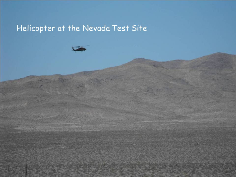 Helicopter at the Nevada Test Site
