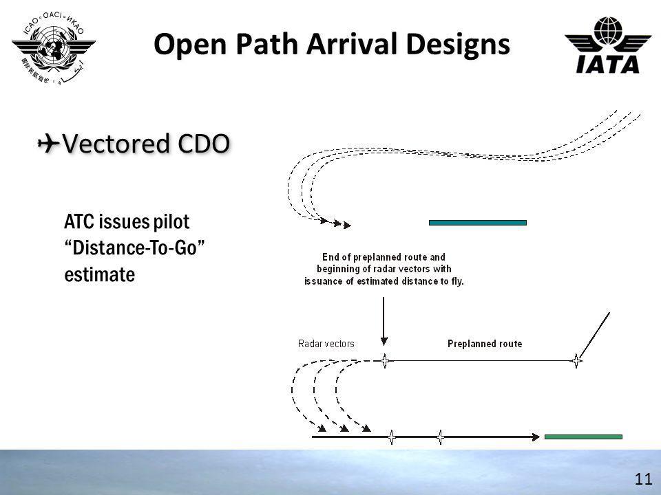 "✈ Vectored CDO 11 ATC issues pilot ""Distance-To-Go"" estimate Open Path Arrival Designs"