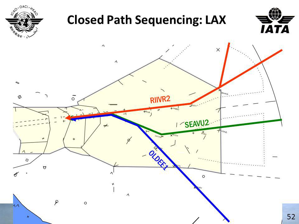 Closed Path Sequencing: LAX 52 RIIVR2 OLDEE1 SEAVU2 LAX ILS